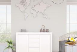 vidaXL Komoda, biała, 120x36x69 cm, płyta wiórowa801841