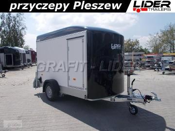 DB-006, bagażowa, do motocykli 300x150x190cm, ściany ze sklejki, hamowana Debon Cheval Liberte Fourgon C300 + drzwi boczne Cheval Liberte