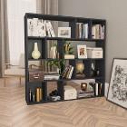 vidaXL Przegroda/regał na książki, wysoki połysk czarny, 110x24x110 cm800367