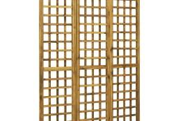 vidaXL 3-panelowy parawan pokojowy/trejaż, drewno akacjowe, 120x170 cm 46562