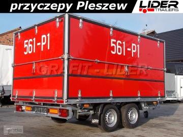 LT-081 przyczepa specjalistyczna pożarnicza 330x200x150cm, do straży pożarnej, OSP, ciężarowa, DMC 2700kg