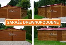 Garaż blaszany drewnopodobny 6x5 PRODUCENT garaże blaszane MONTAŻ CAŁA POLSKA