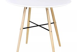vidaXL Okrągły stół z płyty MDF, biały 241303