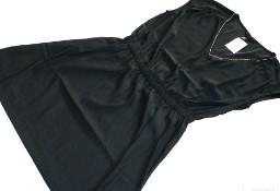 H&M Sukienka NOWA Czarna ze złotym łańcuszkiem 40 L