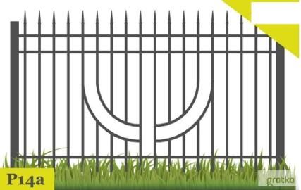 Ogrodzenia,przęsło ogrodzeniowe P14a