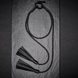 naszyjnik skórzany skóra frędzle gotyk sex metal