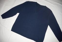 Granatowy sweter V 40 42