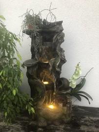 """FONTANNA OGRODOWA """"  LEŚNY  ZDRÓJ """" wysokość - 110 cm - oświetlenie LED !"""