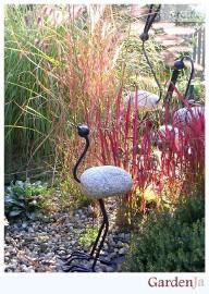 Ptak, ozdoba ogrodowa, rzeźba, kamień, kute
