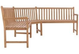 vidaXL Ogrodowa ławka narożna, 202x202x90 cm, lite drewno tekowe 44991