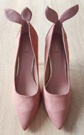 Nowe buty szpilki 40 uszka uszy króliki króliczki brudny róż różowe wysokie