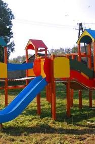 Olimp drewniany plac zabaw z elementami HDPE-2