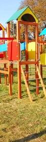 Olimp drewniany plac zabaw z elementami HDPE-3