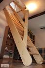 Sosnowe SCHODY DREWNIANE REGULOWANE z BARIERKĄ Młynarskie Strychowe ażurowe jednobiegowe Drabina 295x70cm PRODUCENT z Łukowa