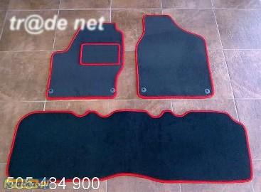 VW Sharan 1995-2000 2 rzędy siedzeń najwyższej jakości dywaniki samochodowe z grubego weluru z gumą od spodu, dedykowane Volkswagen Sharan