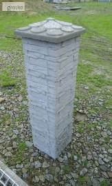Kamień łupany na słupki ogrodzeniowe 25x25x25