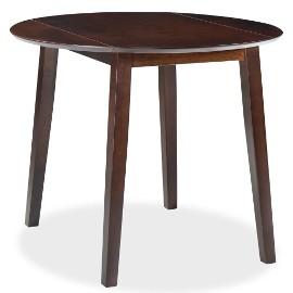 vidaXL Stół jadalniany ze składanym blatem, okrągły, MDF, brąz245367