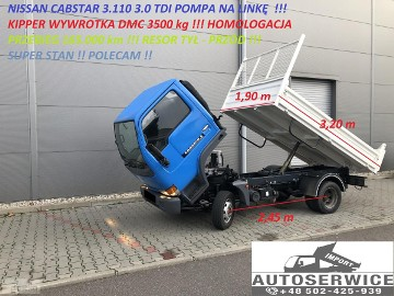 Nissan Cabstar CABSTAR 3.110 3.0 TDI KIPPER WYWROTKA RESOR SUPER