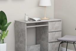 vidaXL Biurko, szarość betonu, 90x45x76 cm, płyta wiórowa801377