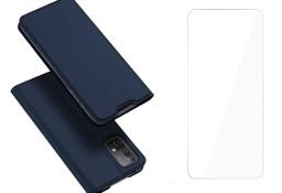 Etui Dux Ducis + Szkło do Samsung Galaxy A52 4G/5G niebieski