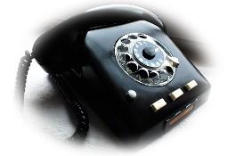 Stary telefon w czarnym bakelicie Piękna czarna perełka retro!