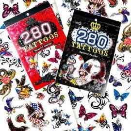 Zestaw Tatuaży Tatuaże Tymczasowe Zmywalne Tattoos 280 Medium