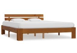 vidaXL Rama łóżka, miodowy brąz, lite drewno sosnowe, 160 x 200 cm 283182