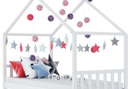 vidaXL Rama łóżka dziecięcego, biała, lite drewno sosnowe, 70 x 140 cm283367