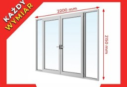Okna PCV Drzwi Balkonowe PCV, 2200 x 2150 mm SUPER PROMOCJA! TRANSPORT