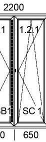 Okna PCV Drzwi Balkonowe PCV, 2200 x 2150 mm SUPER PROMOCJA! TRANSPORT-3