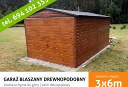 MONTAŻ GRATIS garaż blaszany drewnopodobny 3x6 brama uchylna PRODUCENT