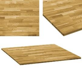 vidaXL Kwadratowy blat do stolika z drewna dębowego, 23 mm, 80 x 80 cm245988