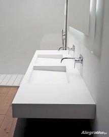 BLATY ŁAZIENKOWE - blaty kompozytowe na wymiar z umywalkami - Corian