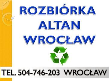 Rozbiórka garażu, altany cennik, tel. 504-746-203 Wrocław. Wyburzenie altanki,  demontaż oraz wywóz gruzu, garaż, altana, cena.