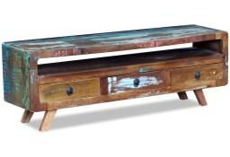 vidaXL Szafka pod TV z 3 szufladami, drewno z odzysku243294