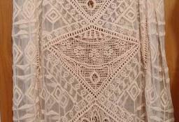 (M/L) (38/40) Hiszpańska, szydełkowa sukienka/narzutka plażowa z Madrytu
