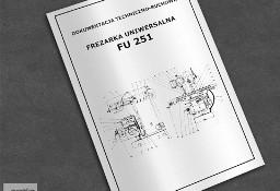 Instrukcja DTR: Frezarka FU 251, FU-251 ...
