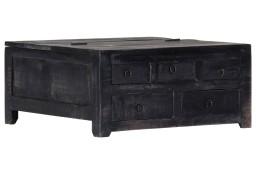 vidaXL Stolik kawowy, czarny, 65x65x30 cm, lite drewno mango247986
