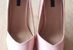 Nowe szpilki Lost Ink 39 różowe jasnoróżowe buty na obcasie czubek szpic