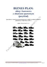 BIZNESPLAN sklep i hurtownia z obuwiem sportowym (przykład) 2016