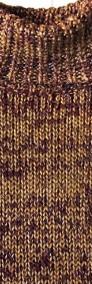 Sweter Golf Ciepły Gruby Splot Srebrna nić S M-3