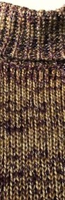 Sweter Golf Ciepły Gruby Splot Srebrna nić S M-4