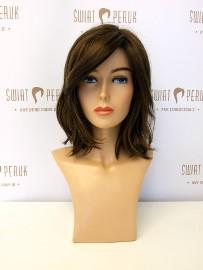 Peruka półdługa z włosa syntetycznego w kolorze brązu Kraśnik