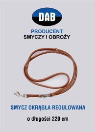SMYCZ REGULOWANA ZE SKÓRY 220cm-GRATIS WYSYŁKA-RĘKODZIEŁO !!!
