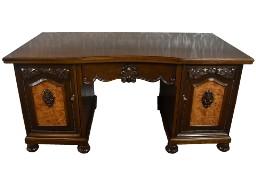 Zabytkowe dębowe biurko międzywojenne antyk stare