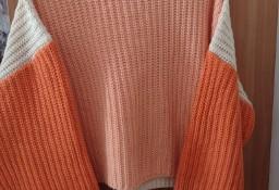 (40/L) WEŁNIANY sweter oversize z Londynu/ VINTAGE
