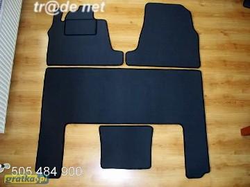 Kia Carnival II 2002 - 06.2006 2 rzędy najwyższej jakości dywaniki samochodowe z grubego weluru z gumą od spodu, dedykowane Kia Carnival