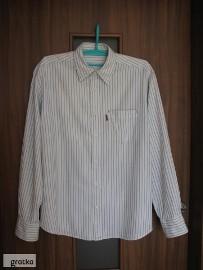 Koszula męska z długim rękawem, w paseczki, Lee Cooper, L