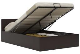 vidaXL Rama łóżka z podnośnikiem, szara, sztuczna skóra, 140 x 200 cm285525