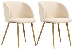 vidaXL Krzesła do jadalni, 2 szt., kremowe, tapicerowane tkaniną282599